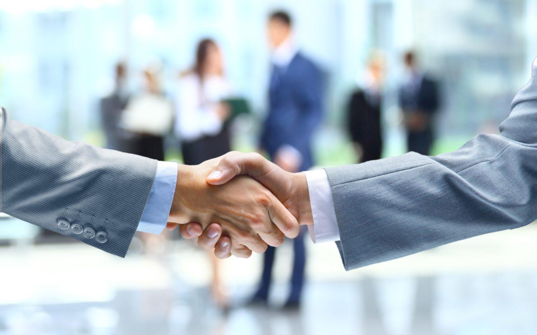 Handshake of businessman